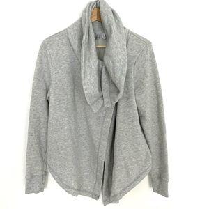 Z by Zella Gray Sweatshirt Wrap Women Sz Large